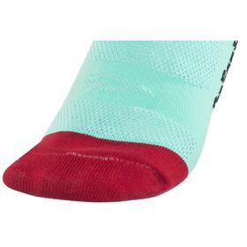 DeFeet Hi Rouleur Aireator Fuse Single-Bund Socken Blau/Rot/Schwarz /Weiß